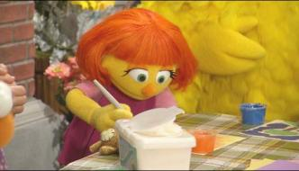 Introducing The Sesame Street Character Affected By Autism