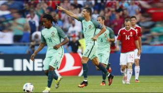 World Cup Football Qualifier Portugul Defeated Hungary