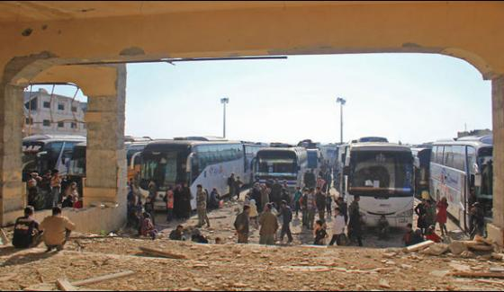 Syria Evacuations Resume To Shift Refugees To Save Places