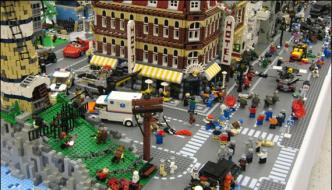 Lego City Made Of Thousands Lego Bricks In Canada