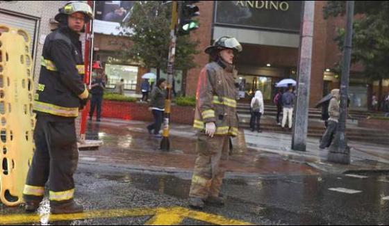 Bogota Explosion In A Shopping Center 3 Women Killed