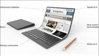 Lenovo Introduced Introduced Rollable Laptop With Flexible Screen