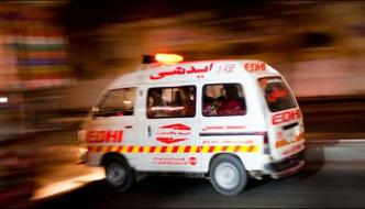 The Ac Compressors Bus Collided In Karachi 8 People Injured