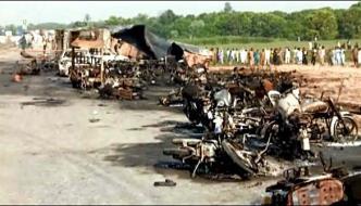 Oil Tanker Burst Diversion Made On The National Highway