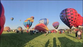 Annual Hot Air Balloon Festival Held In Colorado Usa