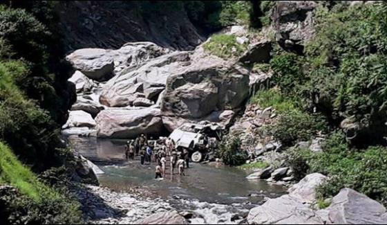 16 Indian Amernath Pilgrims Killed As Bus Falls Into Gorge Near Srinagar Jammu Road