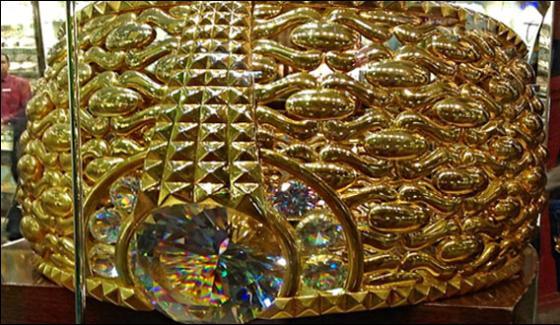Dubai 21 Carat Weight Gold Ring Offered 20 Million Dirhams