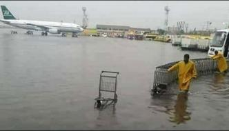 Islamabad Airport Filled With Rainy Water And Pics Of Roads