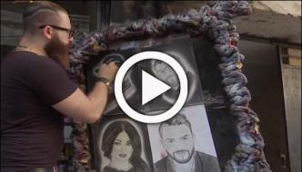 Syrian Barber Creates Portraits On Heads