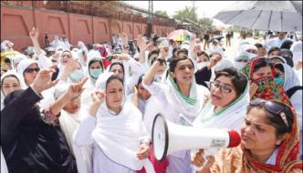 Peshawar Violence Of Nursing Students Against Banned Sanctions