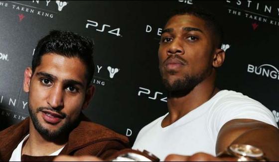 Boxer Amir Khan Apologises To Anthony Joshua