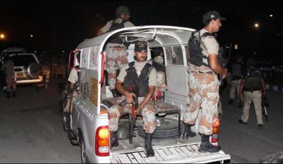 Karachi Rangers Cordon Off Karachi Central Jail Area Perform Drill