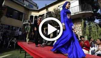 Kabul Catwalk Afghan Models Show Off Traditional Clothing