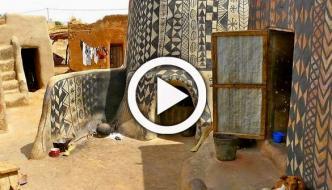 Decorated Mud Houses Of Tiébélé Burkina Faso