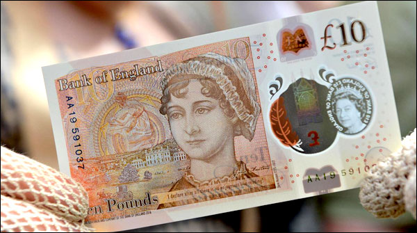 New Plastic Notes Of 10 Pounds Issued In Uk