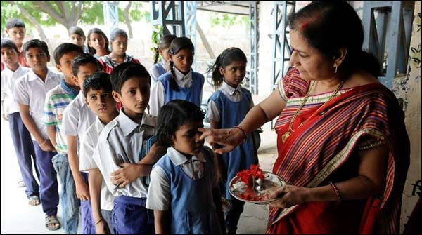 At The Time Of Attendance In Schools The Order To Speak Children Ja Hind