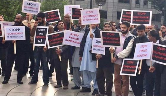 Demonstration In Norway In Favor Of Muslims Of Burma
