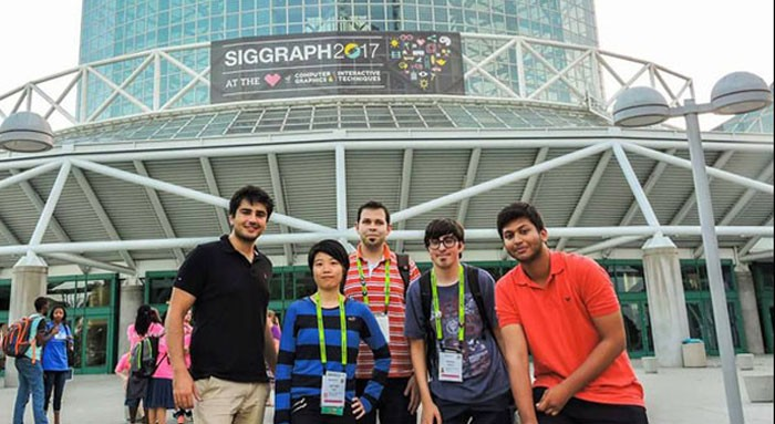 Us Pakistani Student Attended At The Siggraph Conference