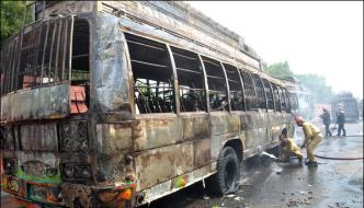 Transport Strike Against Burning Buses In Faisalabad