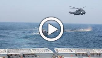 Pak Navy Shows Missile Firing By Sea King Helicopter