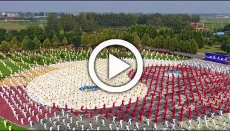 Thousands People Practice Taichi In Sanya China