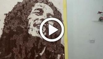 Algerian Artist Uses Coffee Salt Coal To Create Portraits