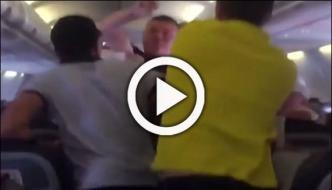 Shocking Footage Shows Brawl Erupt On Plane