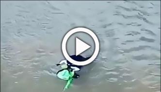 Thrillseeker Bungee Jumper Play Music While Falling