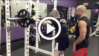 90 Year Old Woman Squats 120 Pounds