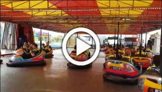 Its Fun Time Police Officers Ride Dodgems Duty Hull Fair Uk
