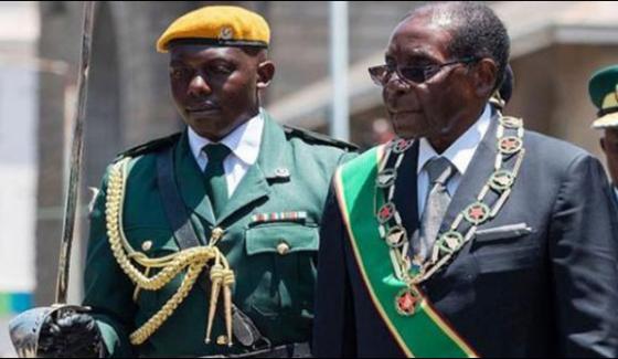 The Army Overwhelmed The President Mugabe In Zimbabwe