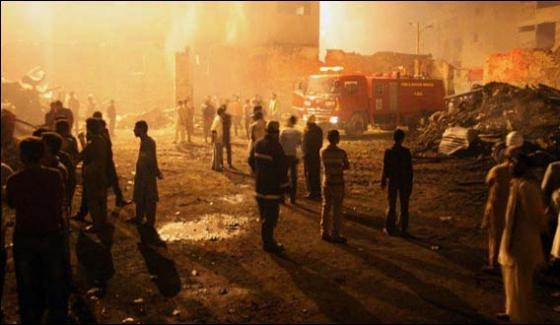 Karachi Wood Market Fire Extinguish 10 Shops Burn