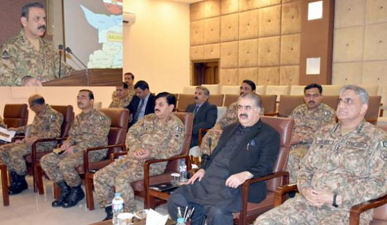 Lieutenant General Asim Saleem Bajwa Brief To Chief Of Army Staff Meeting In Quetta To Launch Khushhal Balochistan