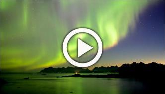 Northern Lights Display Over Canada