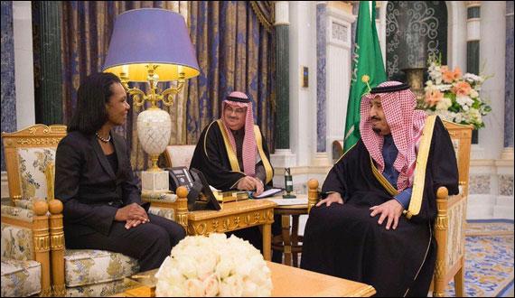 Former Us Secretary Of State Condoleezza Rice Meets Saudi King Crown Prince