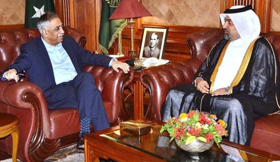 Governor Sindh Muhammad Zubair In A Meeting With Qatari Counsel General Mashal M Al Ansari In Governor House Karachi