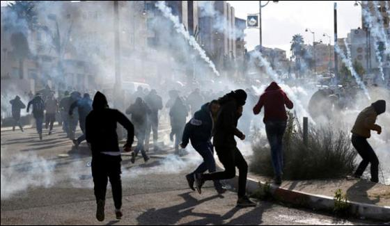 Protest Continued In Palestinian Areas Against Us Decision