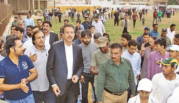 Test Captain Sarfraz Ahmed Mayor Karachi Inaugurated Cricket Ground In Karachi
