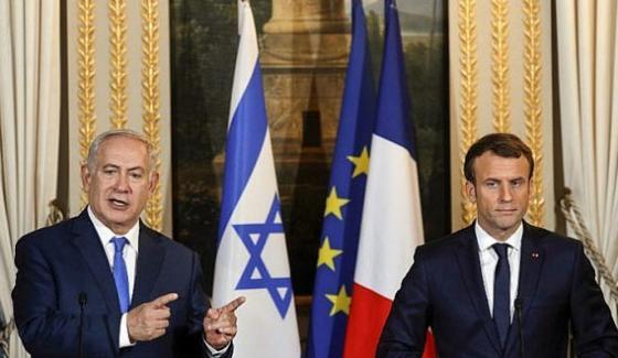 French President Macron Tells Netanyahu Give Peace A Chance