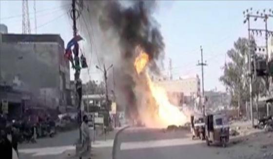 At Least 15 Injured As Gas Pipeline Explodes In Karachis Site Area