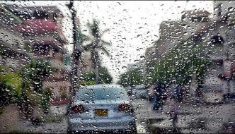 Drizzle In Different Area Of Karachi