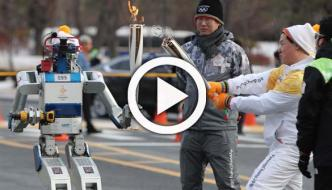 Robot Drives His Way To Winter Olympics