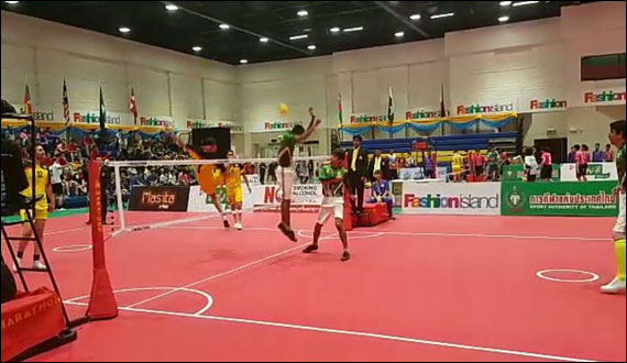 Kings Cup Sepaktakraw Combodia Beats Pakistan