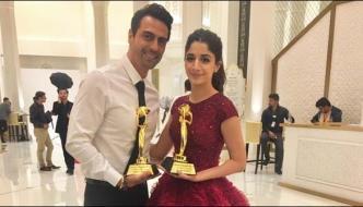Mawra Hussain Dress In Dubai Award Is The Focus