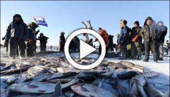 Ice Fishing Season Start At Chagan Lake