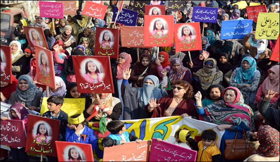 Protest Movement In Lahore Against Kasaur Incident