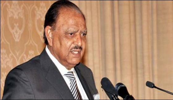 No Place For Militancy In Pakistan Mamnoon Hussain