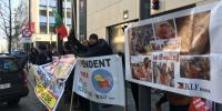 ایل او سی کی بھارتی خلاف ورزی، جے کے ایل ایف بلجیم کا مظاہرہ