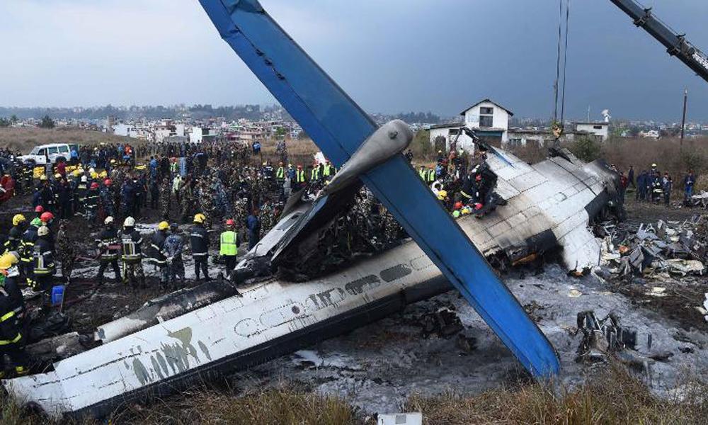 نیپال میں بنگلہ دیشی طیارہ حادثے کا شکار،50افراد ہلاک