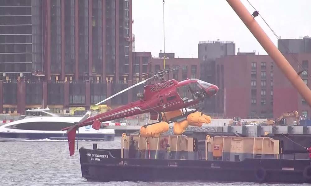 نیویارک میں ہیلی کاپٹر گِر کر تباہ،تمام 5مسافر ہلاک